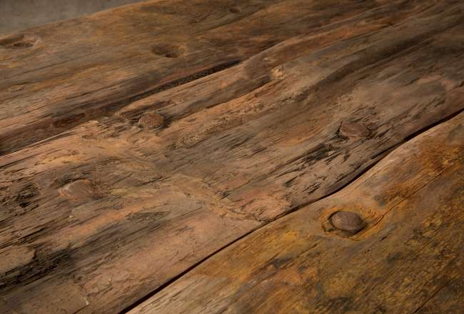 Funen Sea Plank Table XI/XII rustic detail