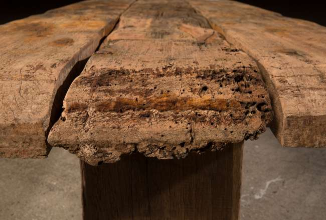 Funen Sea Plank Table VI/XII rustic detail