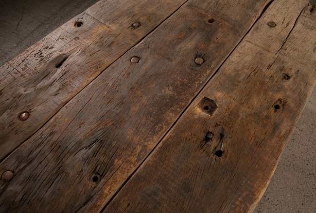Funen Sea Plank Table XII/XII rustic detail