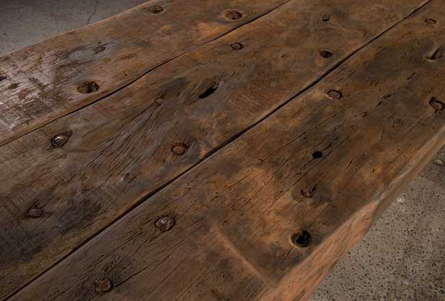 Funen Sea Plank Table VII/XII rustic detail