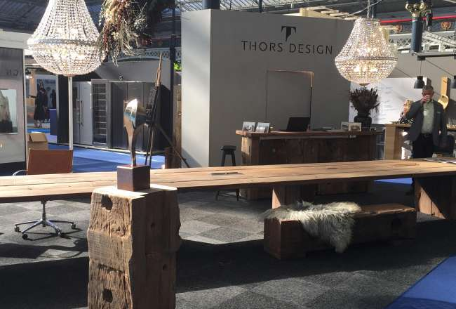 Thors Design Mosaic plank table at 100% Design