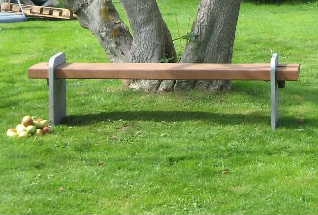 Alfa bench in a beautiful garden