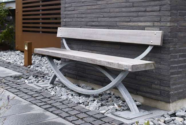 Thors Oftal bench with backrest (patinated)