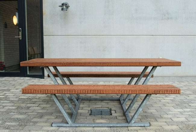 Thors Pallas outdoor dining set - classic bench