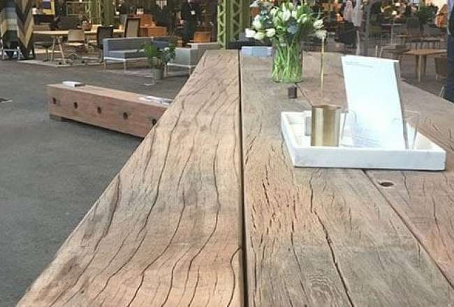 Thors Design Gaia Epi plank table, rustic surface