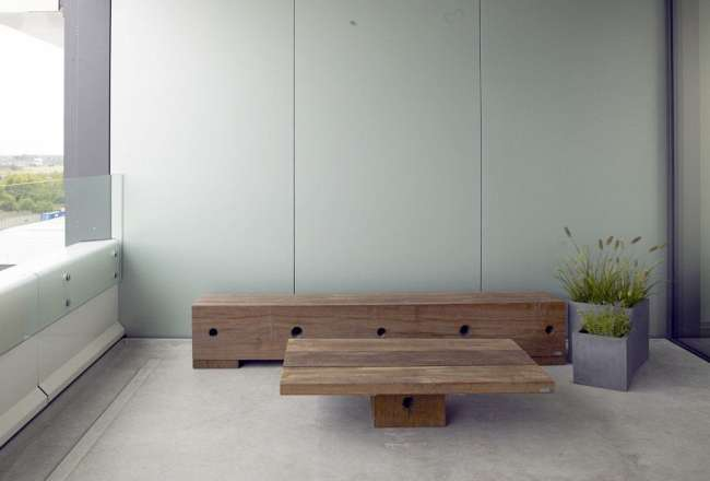 Coffee table and Gamma bench from Thors Design