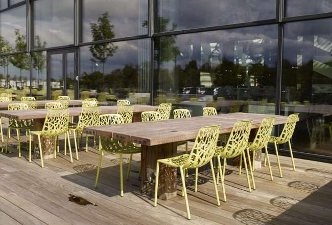 Gaia plank tables at DSV Headquarters