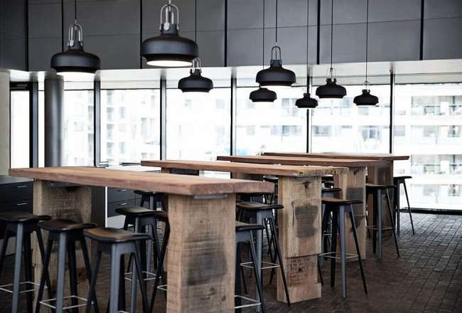 Thors Design Sif high tables at LO in Copenhagen