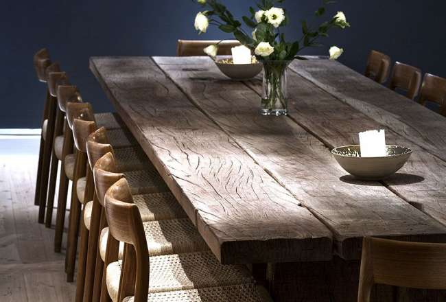 Thors design Gaia plank table with a rustic surface (Medium)