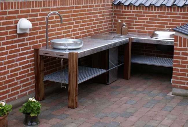 Thors Design Savra outdoor kitchen with sink or barbeque