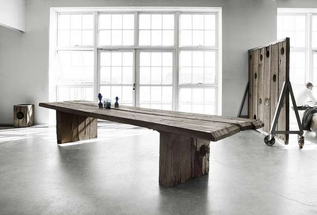 Thors Design Uniq plank table 1 x 3,9m and a mobile dividing wall