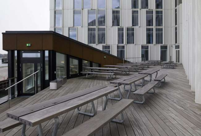 Thors Omega outdoor dining set at United Nations in CPH