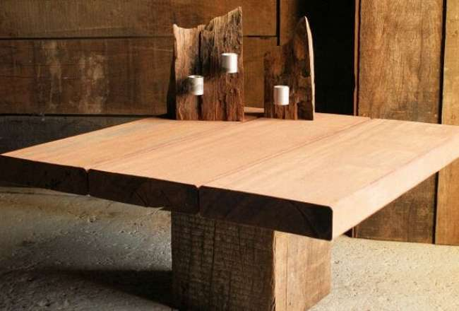 Thors Frigg sofa table, 75 x 75cm with a sanded surface