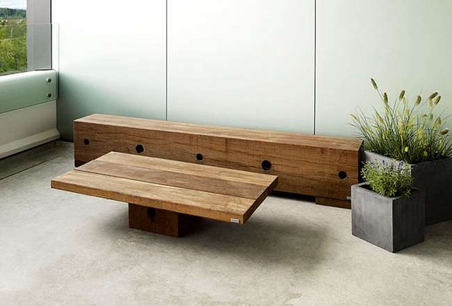 Thors lounge table at DSV 75 x 130cm, sanded surface