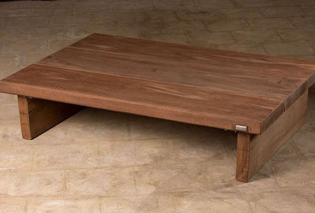 Thors lounge table with a sanded surface 75 x 130cm, hight 32cm