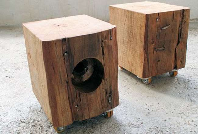 Thors Mobile Cubes on wheels with rustic details