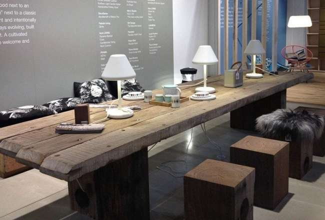 Thors Design Cubes and Uniq plank table