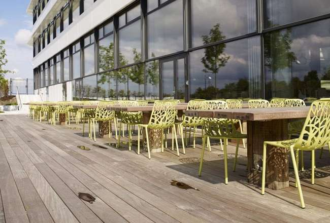 Thors Gaia plank tables, sanded surface at DSV Headquarters