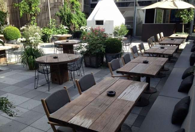 Outdoor Tables Made Of Recycled Harbour Wood Thors Design