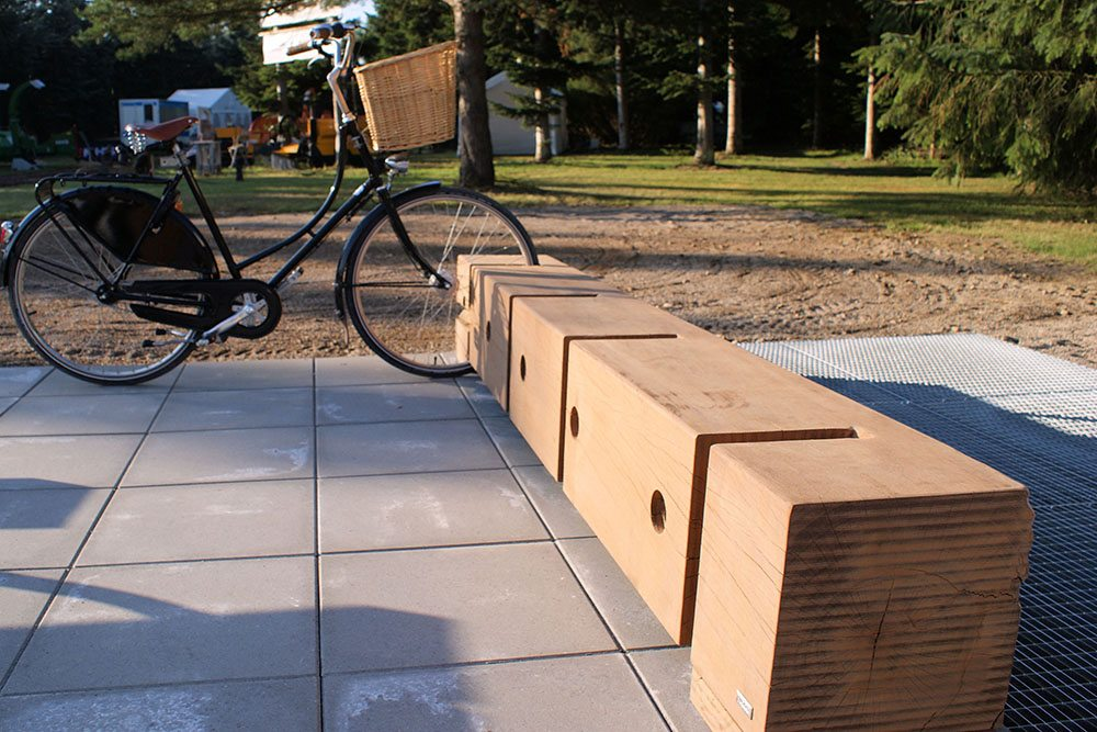 Gamma Bike Rack Made Of Recycled Azobé Wood Thors Design
